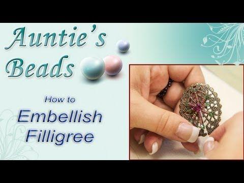 ▶ Karla Kam - How to Embellish Filligree - YouTube