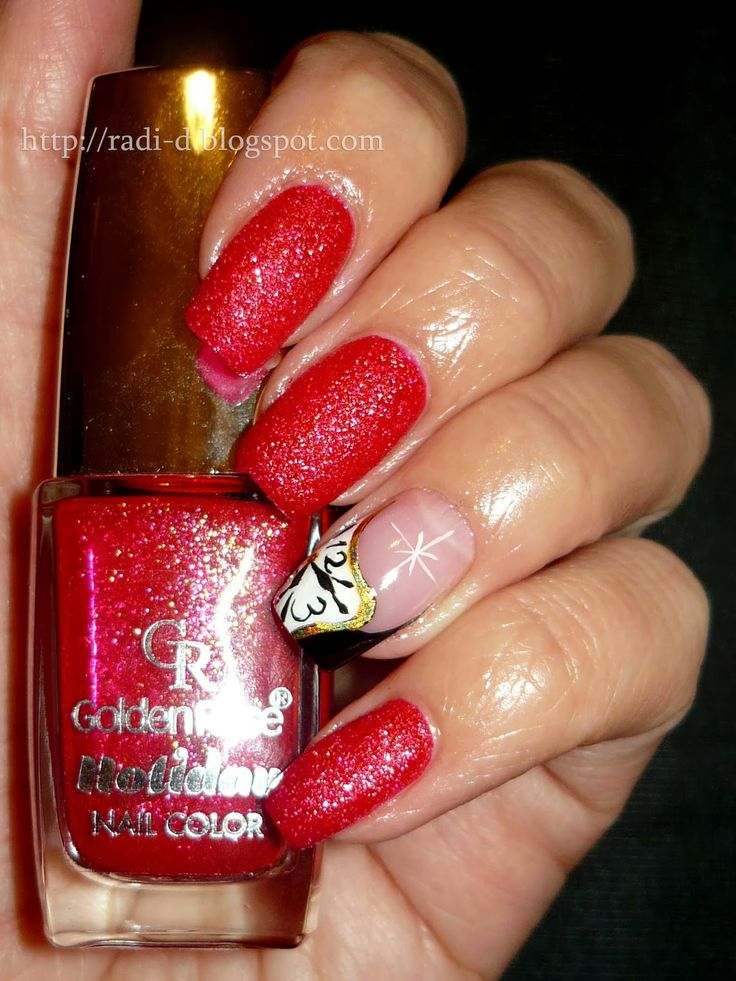 It`s all about nails: Red Sand for Christmas #nail #nails #nailart