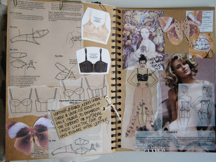 fashion sketchbook use different papers