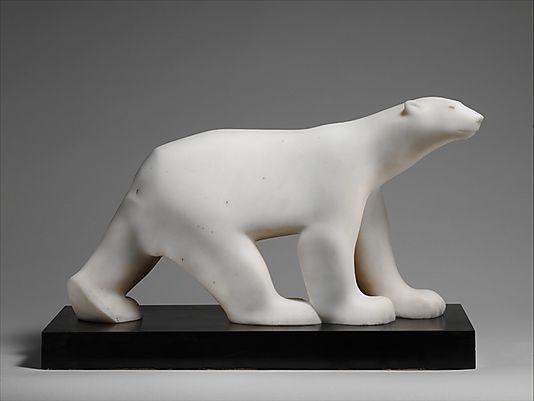 Polar Bear, ca. 1923.   François Pompon - Marble on marble base.