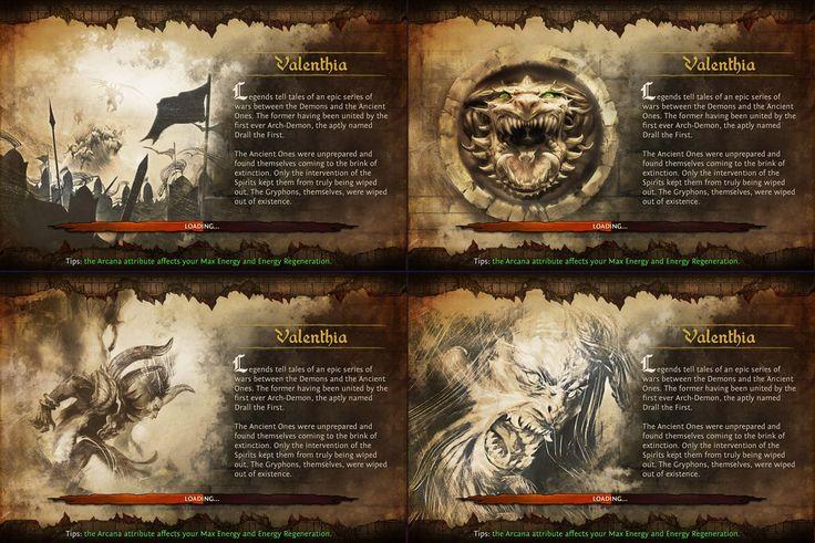 Dungeon Hunter Loading Screens by Panperkin.deviantart.com on @deviantART