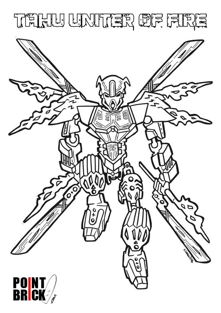 Disegni da Colorare LEGO - Bionicle - Tahu Unificatore del Fuoco - Clicca sull'immagine per scaricarla gratuitamente!