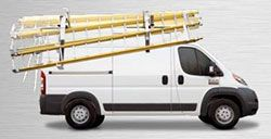 Action can customize your upfit with Ranger Design ladder racks. For many tradesmen, one of their most important pieces of equipment is their ladder. Ranger Design ladder racks for vans make loading and unloading ladders an easy one-person operation. For more information please call our sales team at 800-330-1229 Registering for Action emails is so simple, just text ACTIONTRUCK to 42828. *Message and data rates may apply.