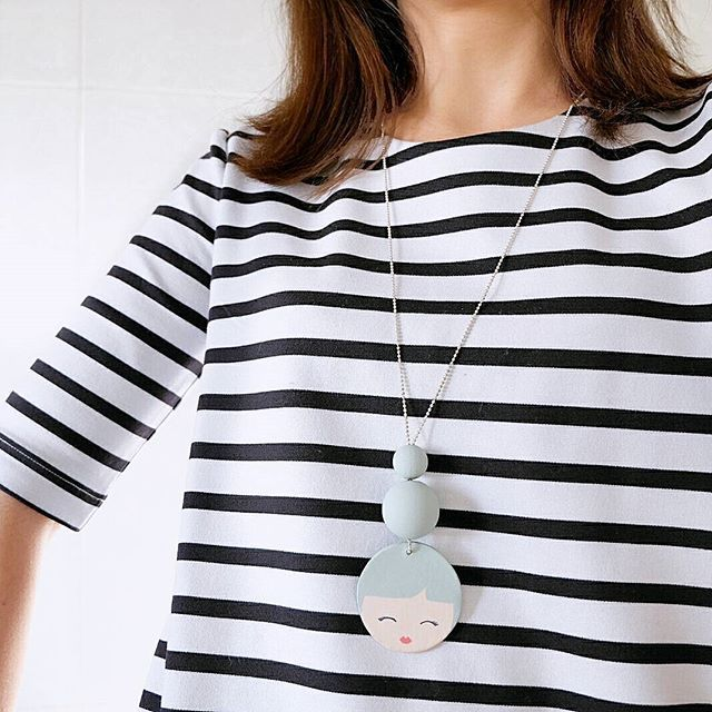 #Indie mon amour: #KamidoMissMolly wooden #necklace Oggi in righe marinare ⛵⛵⛵ @kamidomissmolly