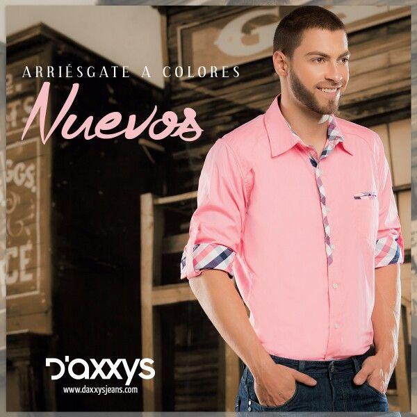 -#ParaEllos: el rosado siempre les quedará bien, en amor y amistad regala una camisa Zion en tejido plano algodón 100%.