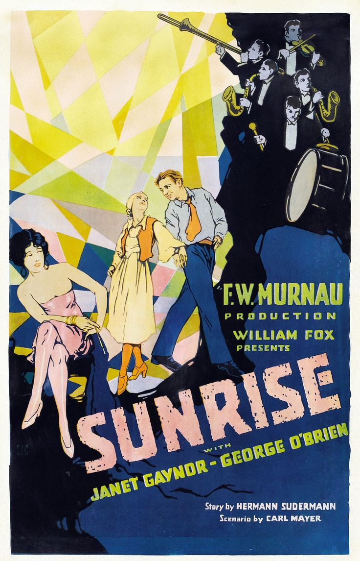 Poster design 1920s - Sunrise Starring Janet Gaynor 1927 Vintage Movies Posters 1920s