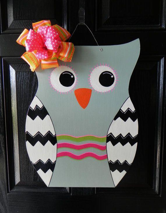 Owl Wooden Door Hanger  DIY & crafts  Pinteres ~ 102409_Halloween Owl Door Hanger