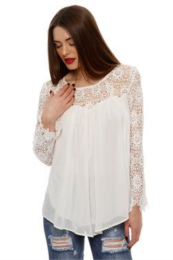 Lace Detail Top - ΡΟΥΧΑ -> Μπλούζες | Made of Grace