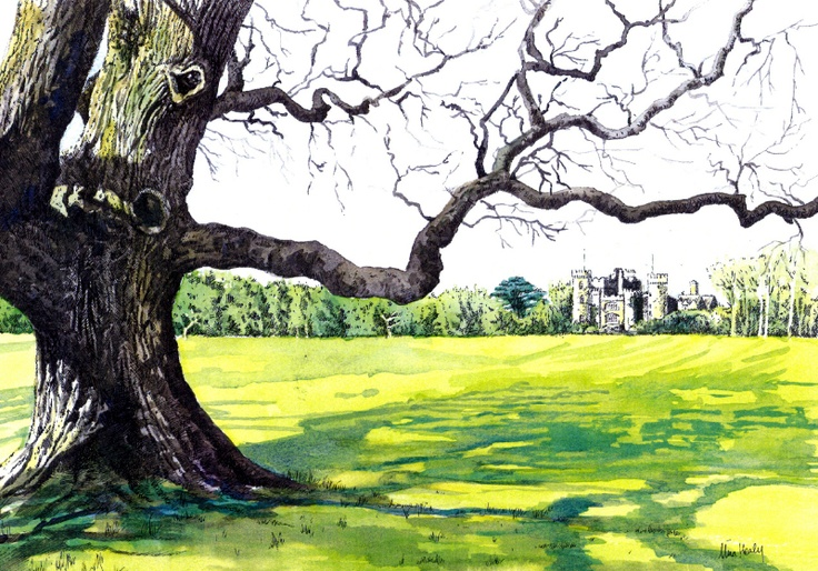 Malahide Castle - Watercolour