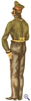 Униформа рядового Киевского гусарского полка в ментике и фуражной шапке.