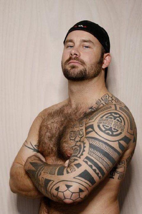 Pin by andrew williams on hairy men pinterest body art for Tattoos for gay men
