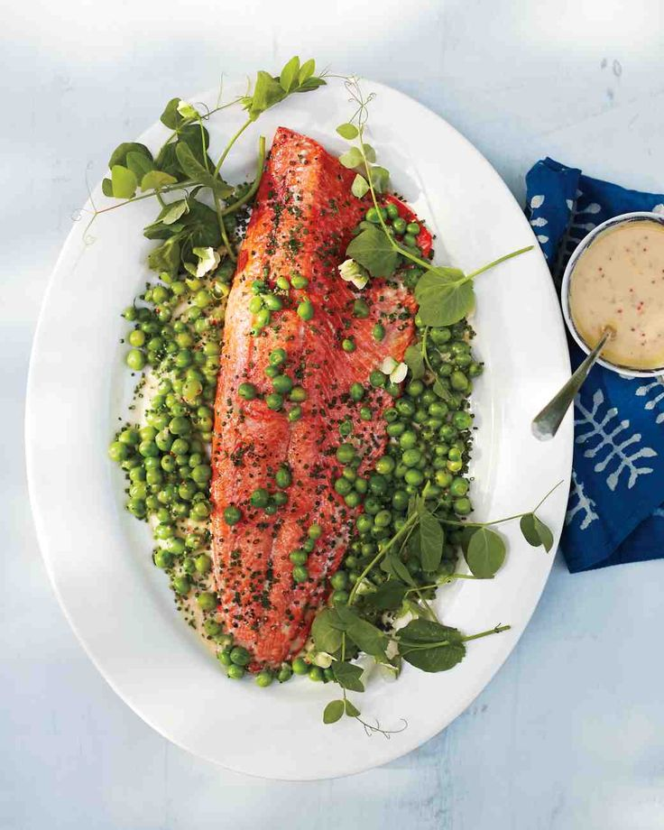 Wild Salmon with English Peas and Mustard Beurre Blanc MS may 2015