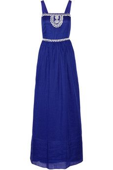 b86c4ae49565d Collette by Collette Dinnigan Bead-embellished ramie maxi dress