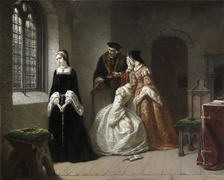 Detail of The Last Moments of Lady Jane Grey by Hendrik Jacobus Scholten