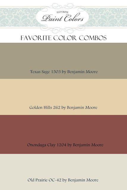 Favorite Paint Colors Color Combinations