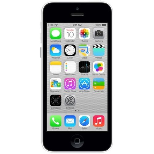 Unlocked Apple - Refurbished iPhone 5C 4G LTE with 16GB Memory Cell Phone - White