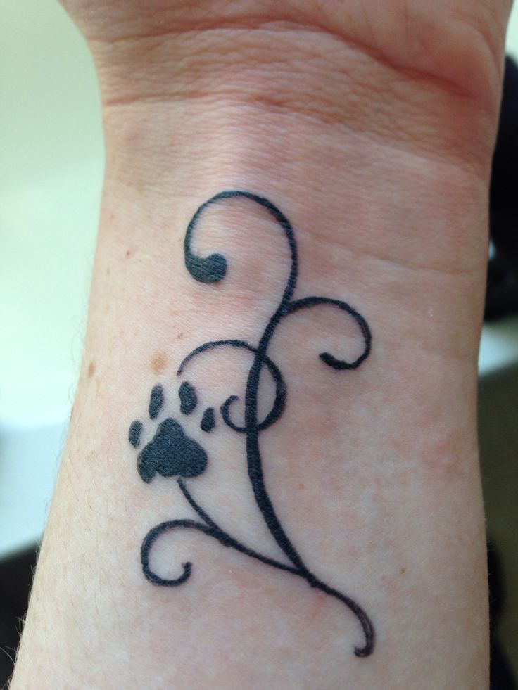 kitty paw tattoo cute but i would get a puppy paw tattoo pinterest cats other and memories. Black Bedroom Furniture Sets. Home Design Ideas