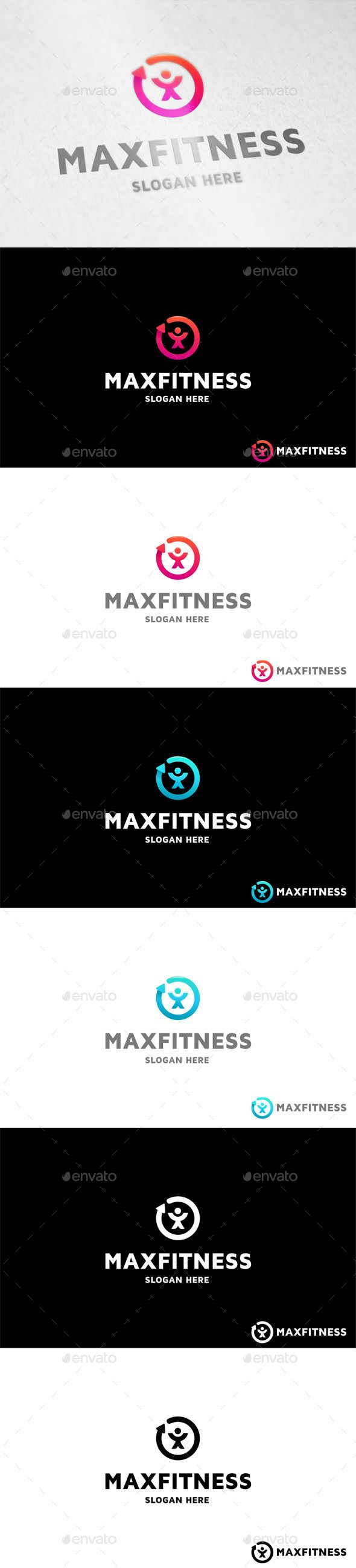 Fitness Logo — Vector EPS #fat #fitness • Available here → https://graphicriver.net/item/fitness-logo/11212108?ref=pxcr