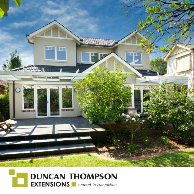 We designed, planned, managed and built this double storey extension. Finished product looks great!