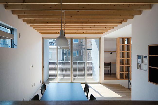木製ルーバーを使った家 間取り 大阪府大阪市 注文住宅なら建築