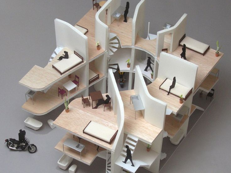 M s de 25 ideas incre bles sobre planos de los for Maquetas de apartamentos modernos