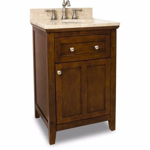 Jeffrey Alexander Chatham Shaker Single Vanity Set In Chocolate     Bath  Vanity Plus