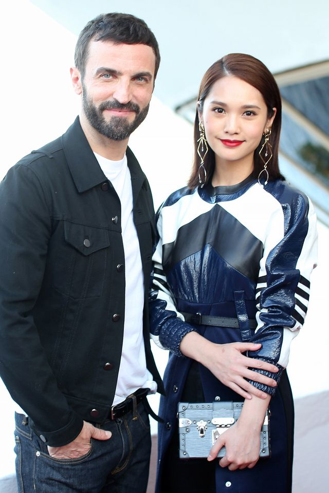 Nicolas Ghesquiere and Rainie Yang attend Louis vuitton Resort 2017 show Front Row on May 28, 2016 #LVCRUISE 2017
