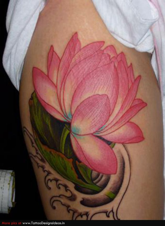 Tatto Design Of Lotus Flower Tattoos Atlas Tattoo  TattooDesignsIdeas