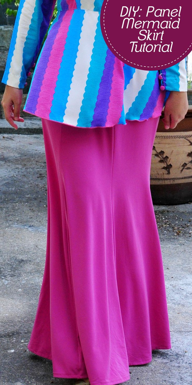 DIY Paneled Mermaid Skirt Tutorial: Part 1 - Pattern Making