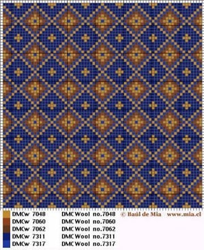 interesting pattern for a cushion or the center of a rug