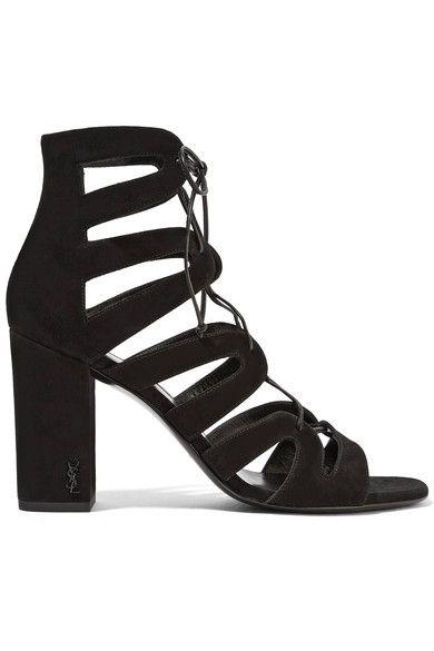 Saint Laurent - Babies Lace-up Leather Sandals - Black - IT41