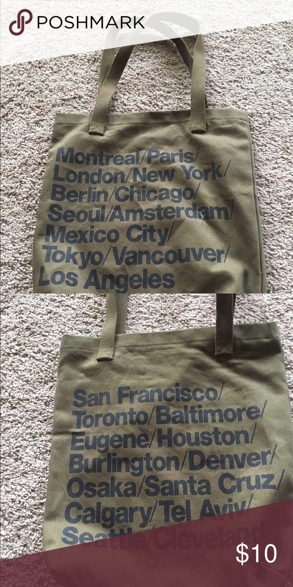 American apparel city Bag Olive green American apparel city Bag nwot American Apparel Bags