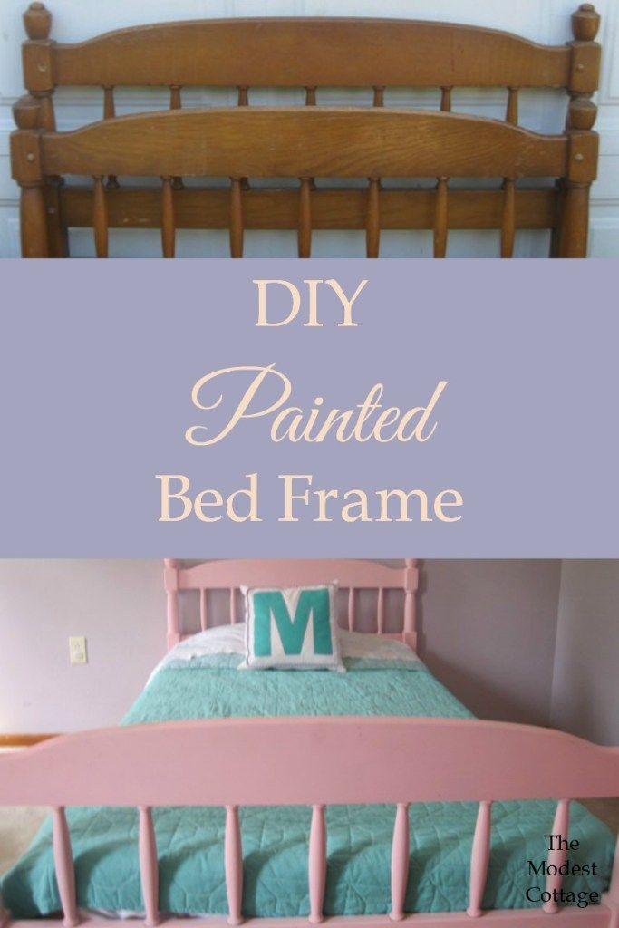 Diy Painted Bed Frame The Modest Cottage Painted Bed Frames