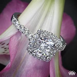 Verragio Cushion Halo Diamond Engagement Ring #Whiteflash #Verragio