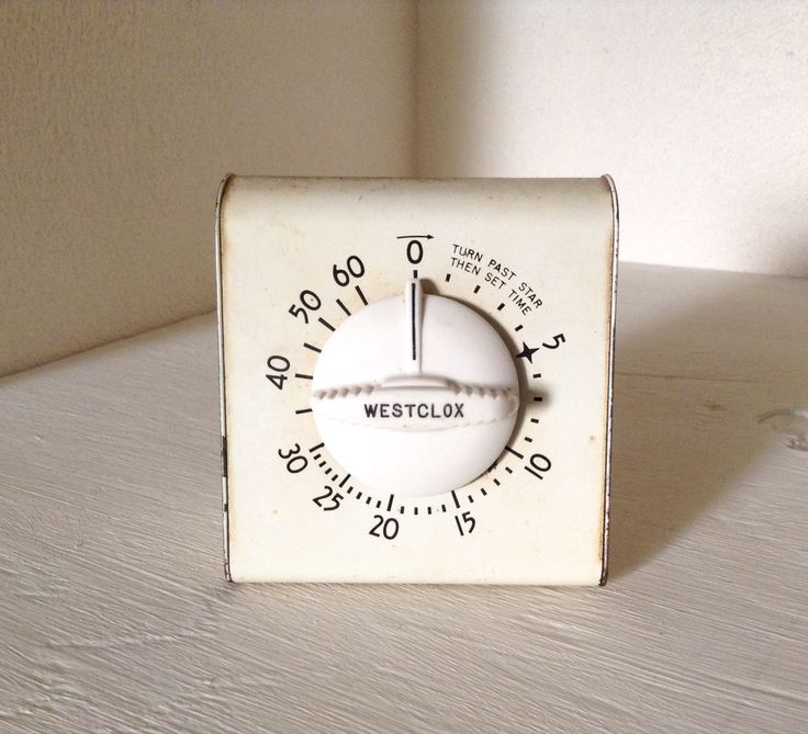 Westclox Kitchen Timer - Vintage Kitchen Timer - Retro Baking Timer - Midcentury Kitchen Timer - Retro Kitchen Decor by RiverHomeVintage on Etsy