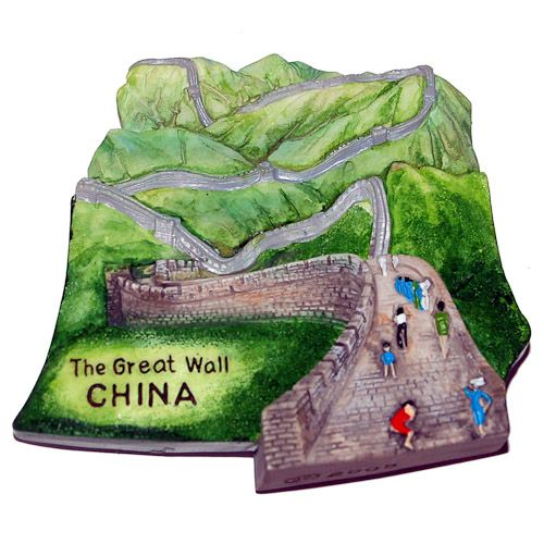 PLACES I'VE BEEN TO'S MAGNET - Resin Fridge Magnet: China. Great Wall of China - $6. http://www.world-wide-gifts.com/souvenirs/00003722-resin-fridge-magnet-china-great-wall-of-china/