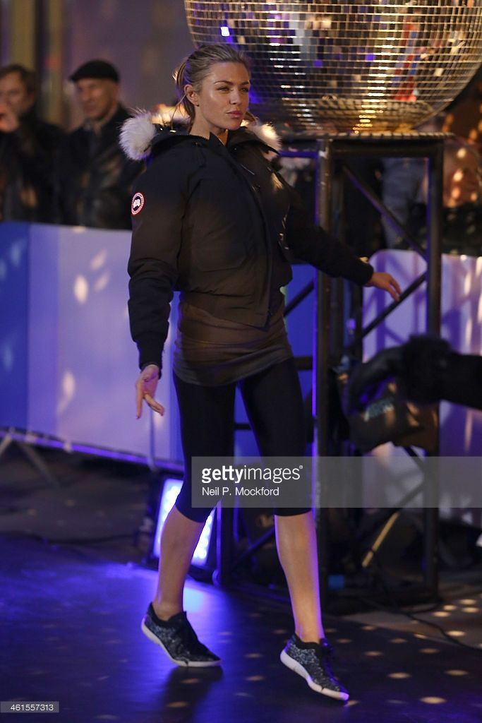 Abbey Clancy seen performing for the Strictly Come Dancing Tour at the BBC for The One Show on January 9, 2014 in London, England.