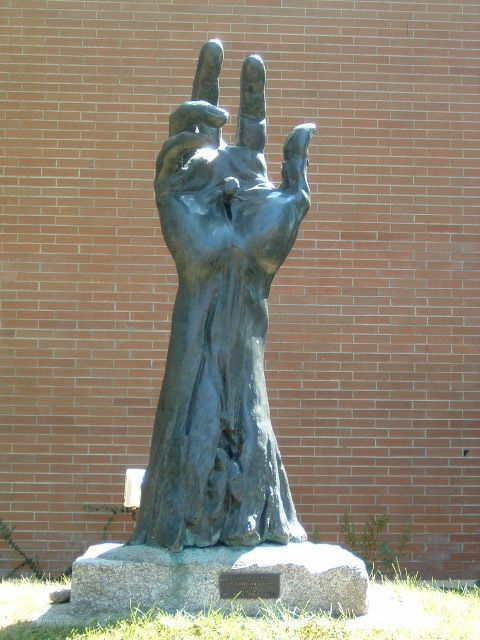 Statue on Gonzaga University campus