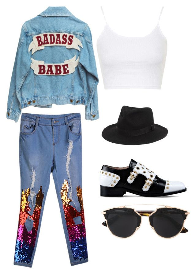 """""""Street by Mimi"""" by mokatsanemk on Polyvore featuring Topshop, Boutique Moschino, Christian Dior, Madewell, women's clothing, women, female, woman, misses and juniors"""