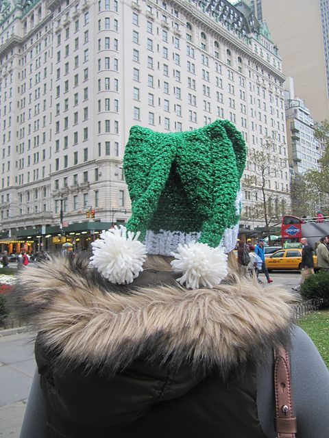 Ravelry: Dual Tail Ho-Ho-Ho Crochet Santa Hat pattern by Katie Carroll..free