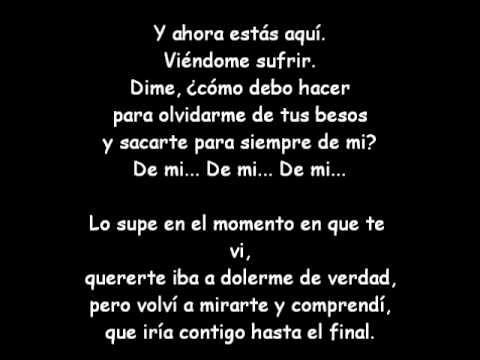 Camila - De mi (letra)