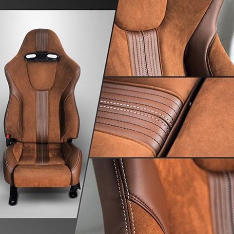 Wow! Work by @autodevie / #autoupholstery #autotrim #carinterior #upholstery #thehogring