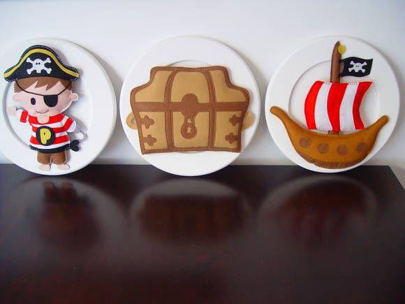 (DO 0062) Quadro decorativo barco pirata