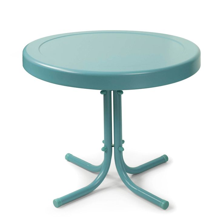 Crosley Retro Metal Side Table - You'll love the retro design and beautiful yet simple look of the Crosley Retro Metal Side Table. Constructed from strong and sturdy steel with a ...