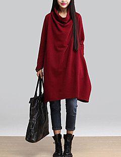 A-linje / Løstsittende Dress Fritid/hverdag Vintage Kvinner,Ensfarget…