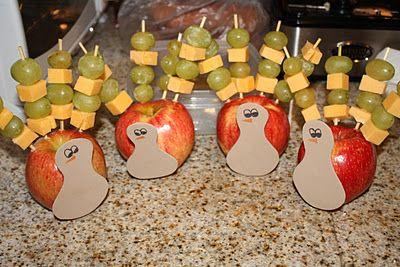 cute little Fruit & Cheese turkey snacks