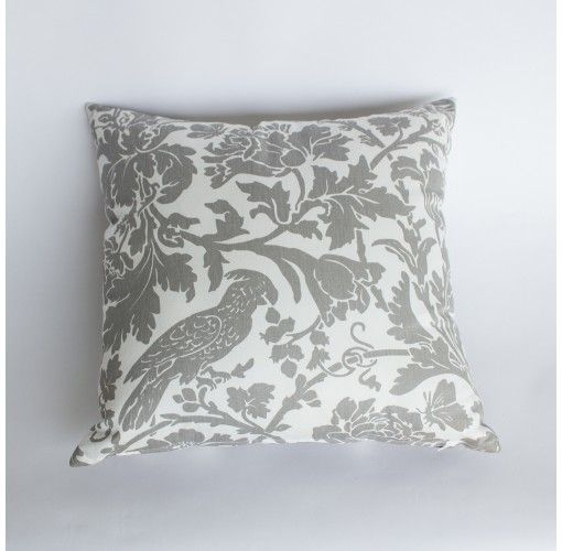 Birdie Cushion in Grey - Handmade in Noosa, these Plump Cushions come in a variety of colours and patterns to compliment any decor.