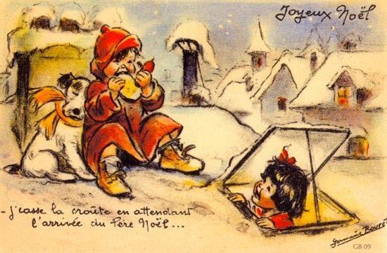 J'casse la croûte en attendant l'arrivée du Père Noël....