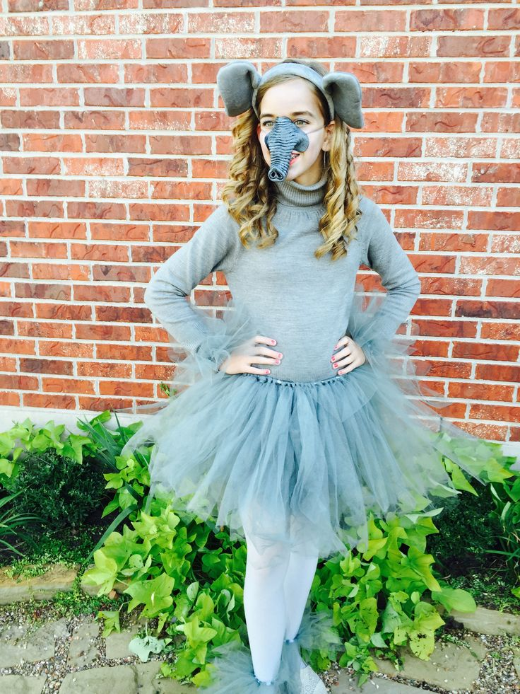 Cutest elephant costume yet!!! Diy tutu on youtube and order the ears on amazon. Next buy the nose at a Halloween store and some leggings at walmart! So easy