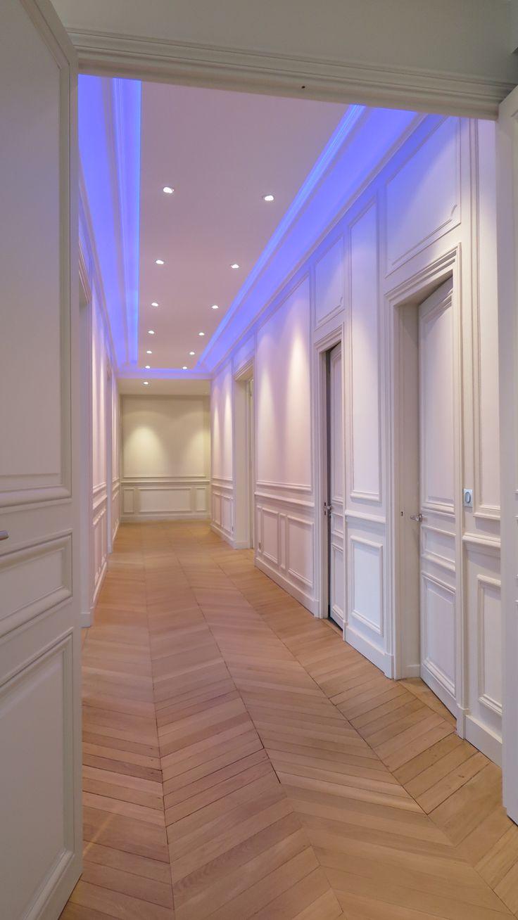 d gagement vers les chambres appartement haussmannien paris 16 em pinterest le chambre. Black Bedroom Furniture Sets. Home Design Ideas